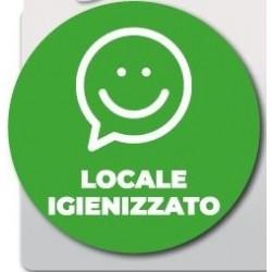 """ADESIVO SU ROTOLO """"LOCALE IGIENIZZATO"""""""