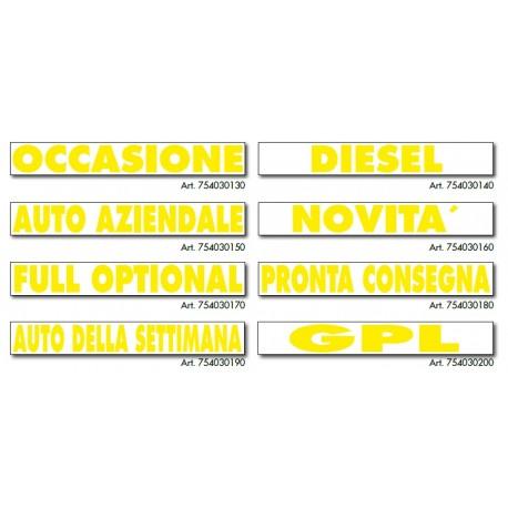 Sticker giallo senza colla