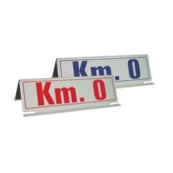 Cartello magnetico bifacciale per tetto auto