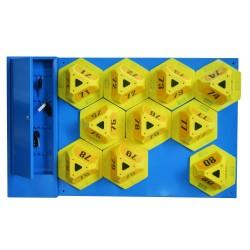 Pannello per Visor-Block con armadietto per 25 chiavi